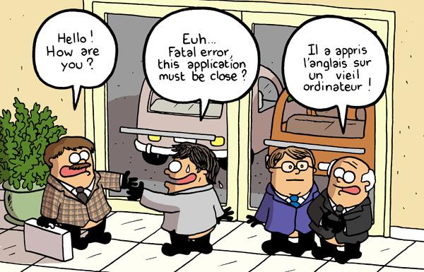 Cours d anglais sur internet sure you can mag 39 pro for Humour anglais