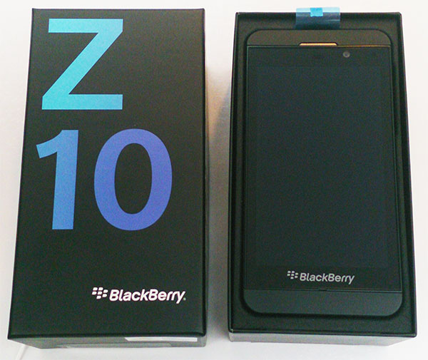 Déballage Blackberry Z10