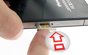 comment mettre carte sim iphone 4