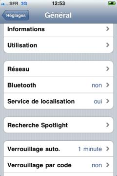 touche verrouillage iphone