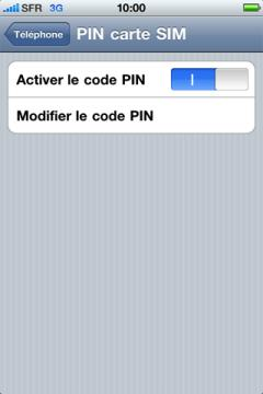 comment activer le code pin de ma carte sim sur mon iphone 4 r solue. Black Bedroom Furniture Sets. Home Design Ideas